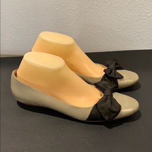 Authentic Salvatore Ferragamo bow leather flats 9